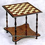 Giglio 2 Level, 4 Legged Wooden Chess Table (60mm Squares)