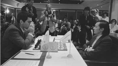 Garry Kasparov y Anatoli Karpov